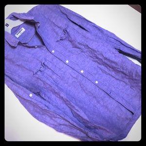 Express lavender chambray Button down